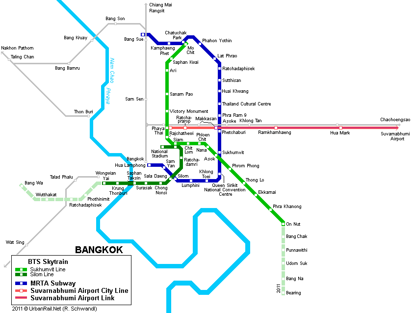 Bangkok Subway Map for Download | Metro in Bangkok   High
