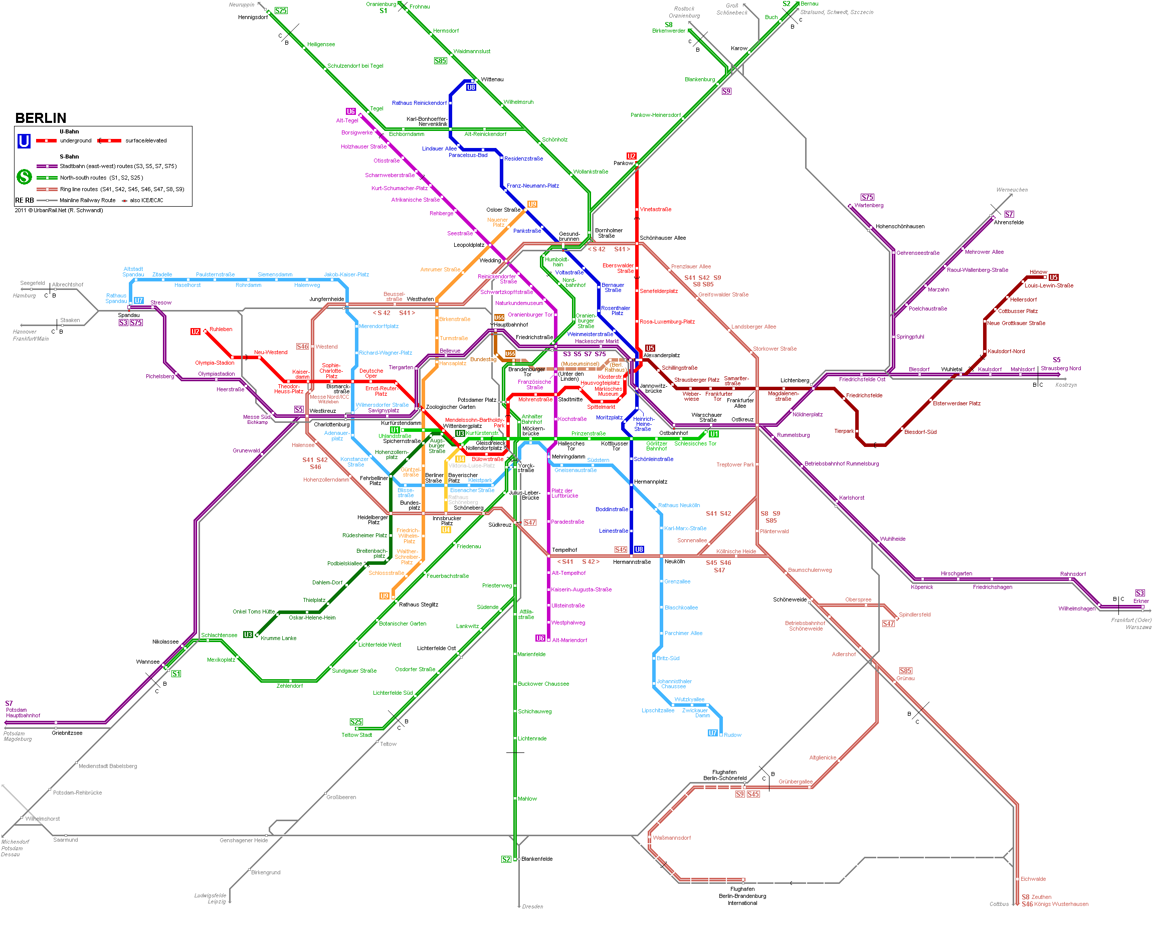 Map of metro in Berlin