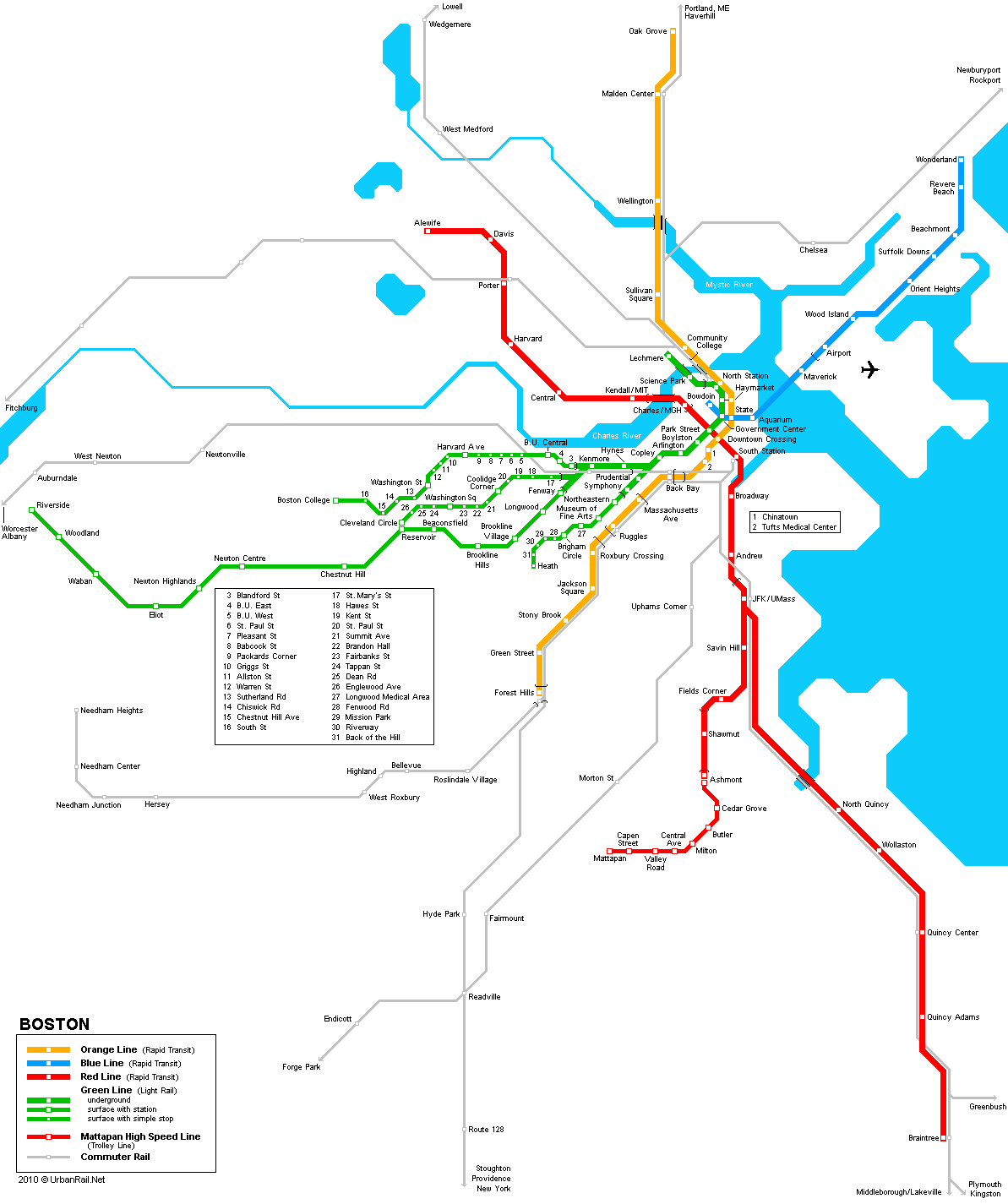 Orlando Metro Map.Boston Subway Map For Download Metro In Boston High Resolution
