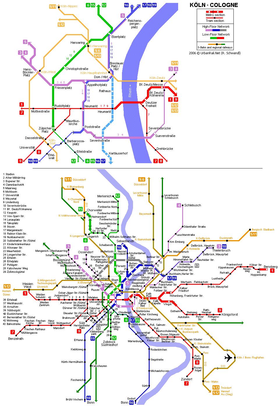 mapa del metro de Colonia