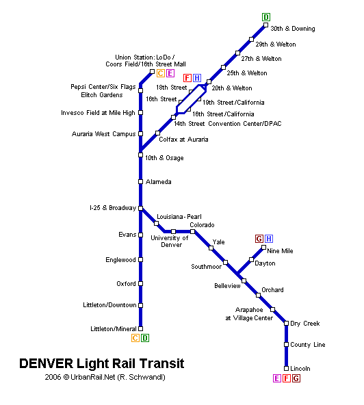 Map of metro in Denver