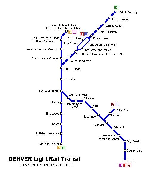 Metro Denver Map.Denver Subway Map For Download Metro In Denver High Resolution