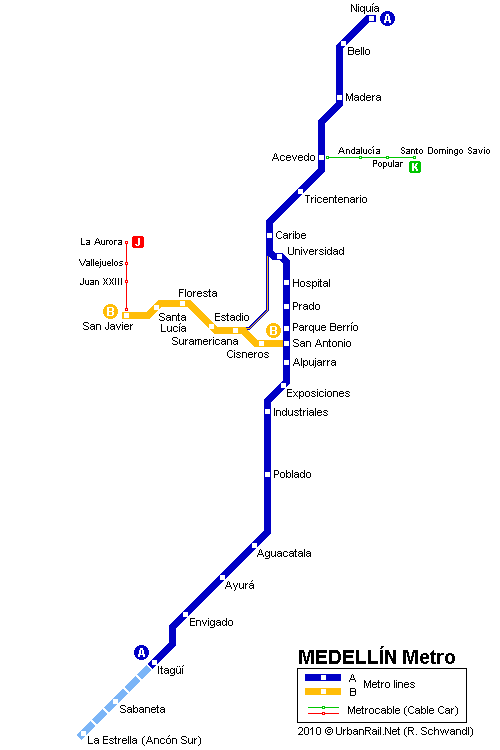 Medellin Subway Map for Download | Metro in Medellin   High