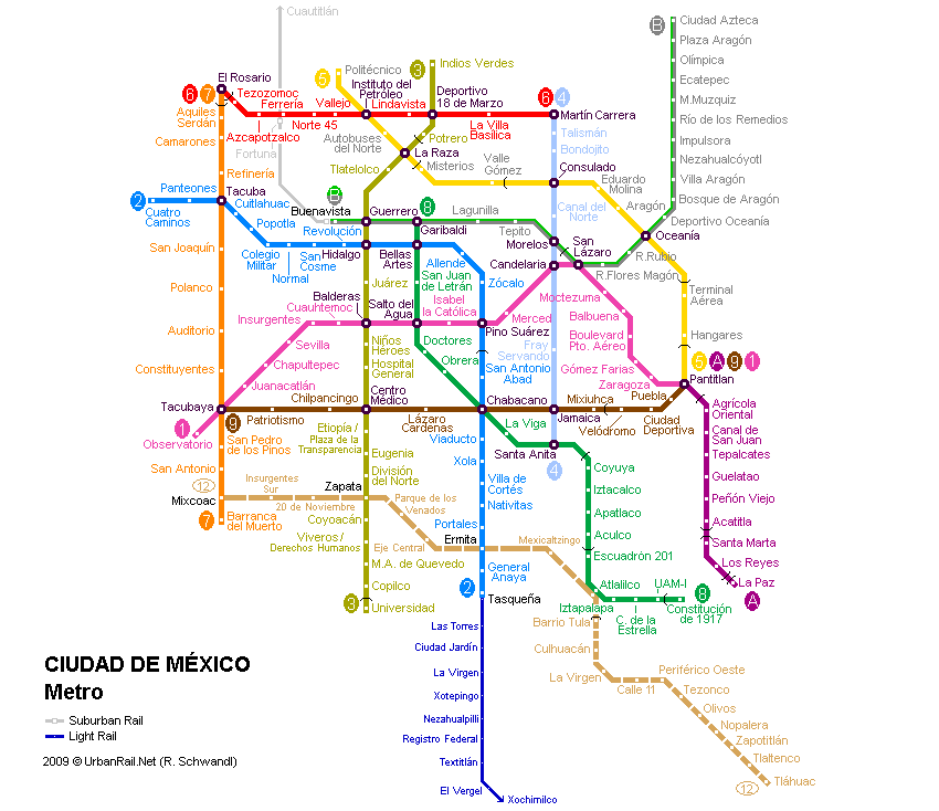 Subway Map Mexico City.Mexico City Subway Map For Download Metro In Mexico City High Resolution Map Of Underground Network