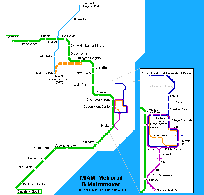 Miami Subway Map