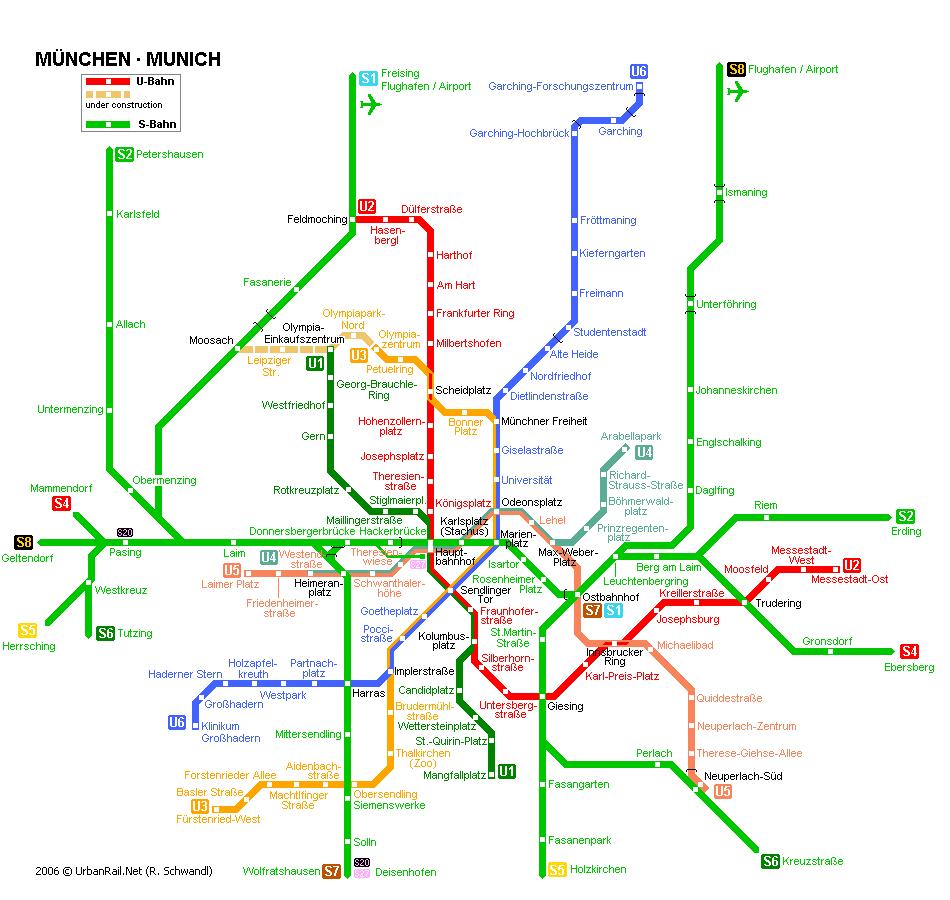 mapa del metro de Múnich