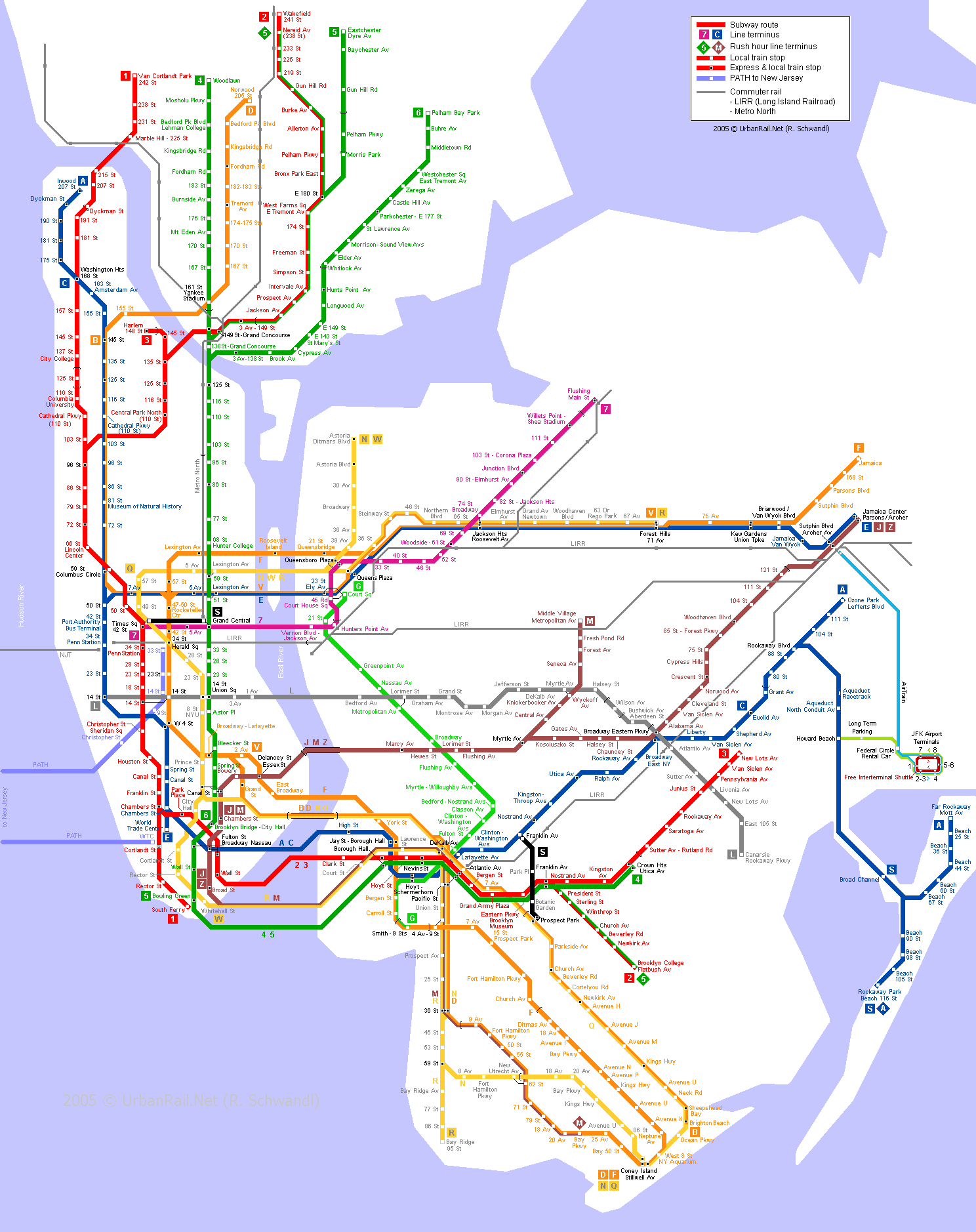 Map of metro in New York