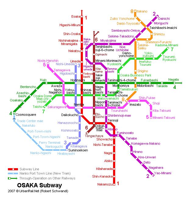 Osaka Subway Map Osaka Subway Map for Download | Metro in Osaka   High Resolution  Osaka Subway Map