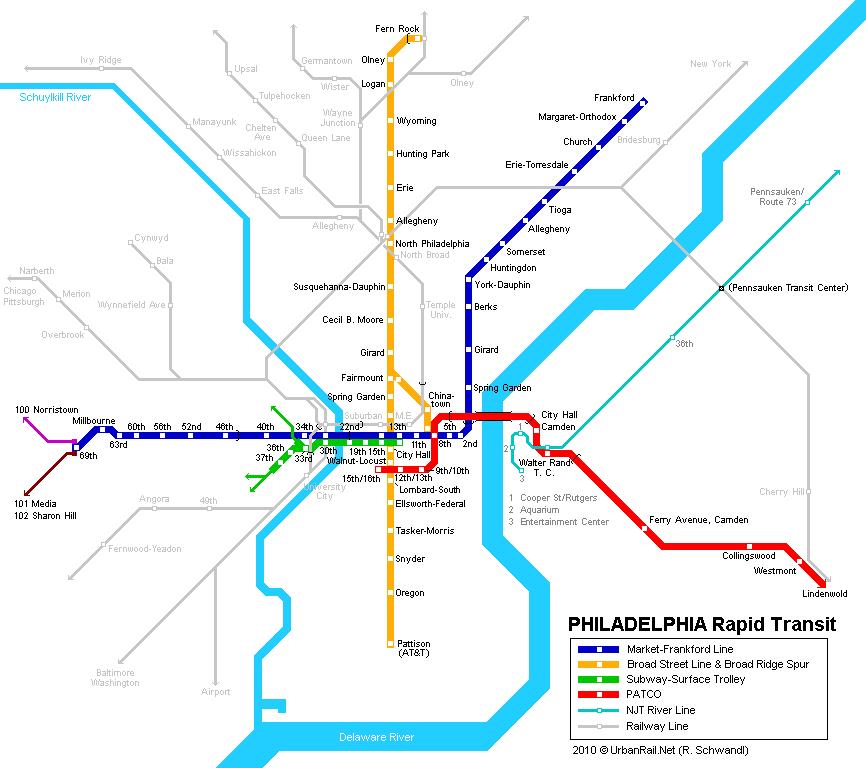Philadelphia Metro Map Philadelphia Subway Map for Download | Metro in Philadelphia