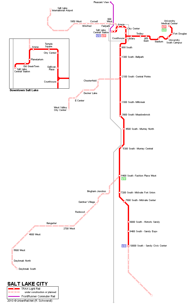 U-Bahn-Plan von Salt Lake City
