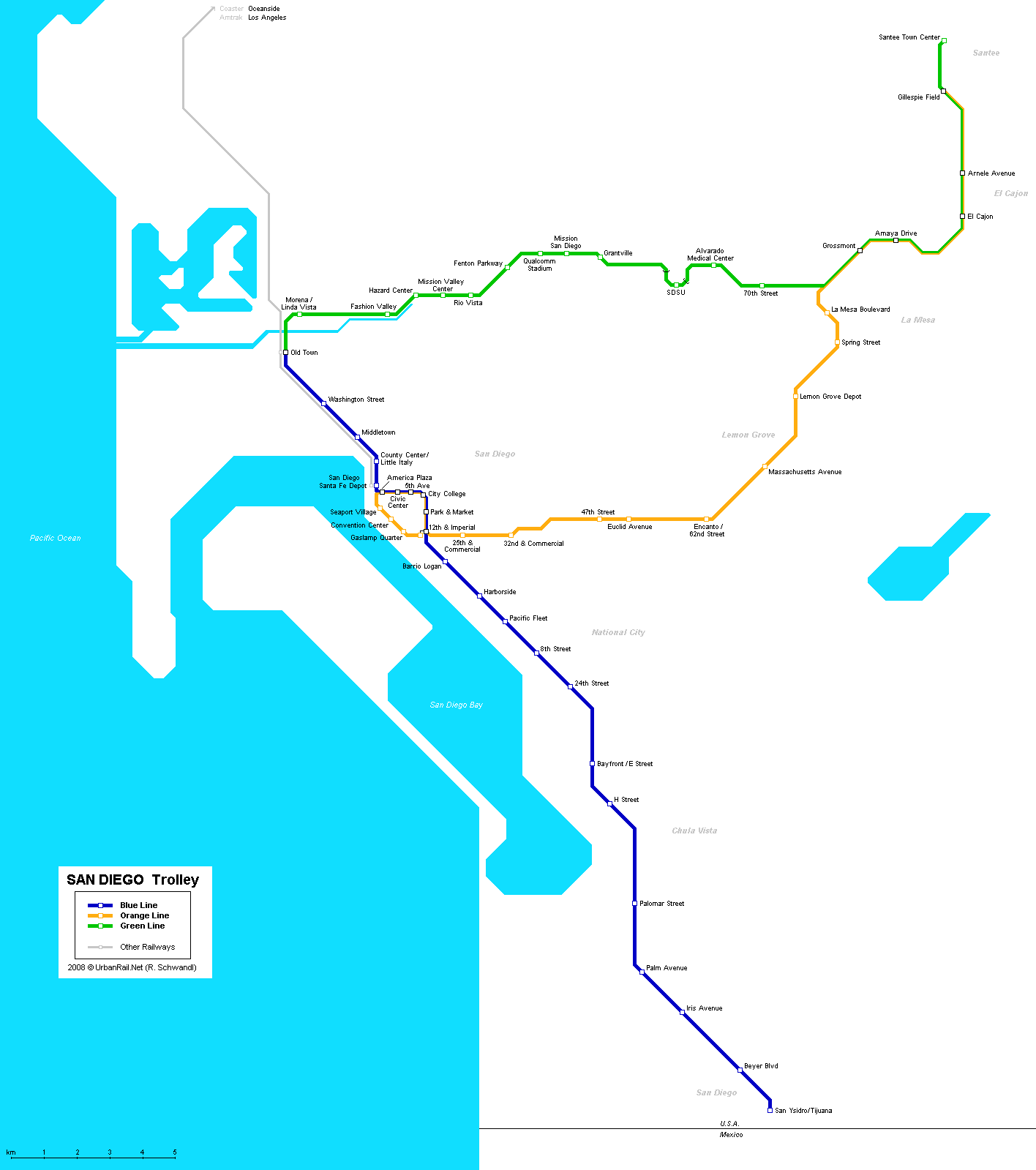 Map of metro in San Diego