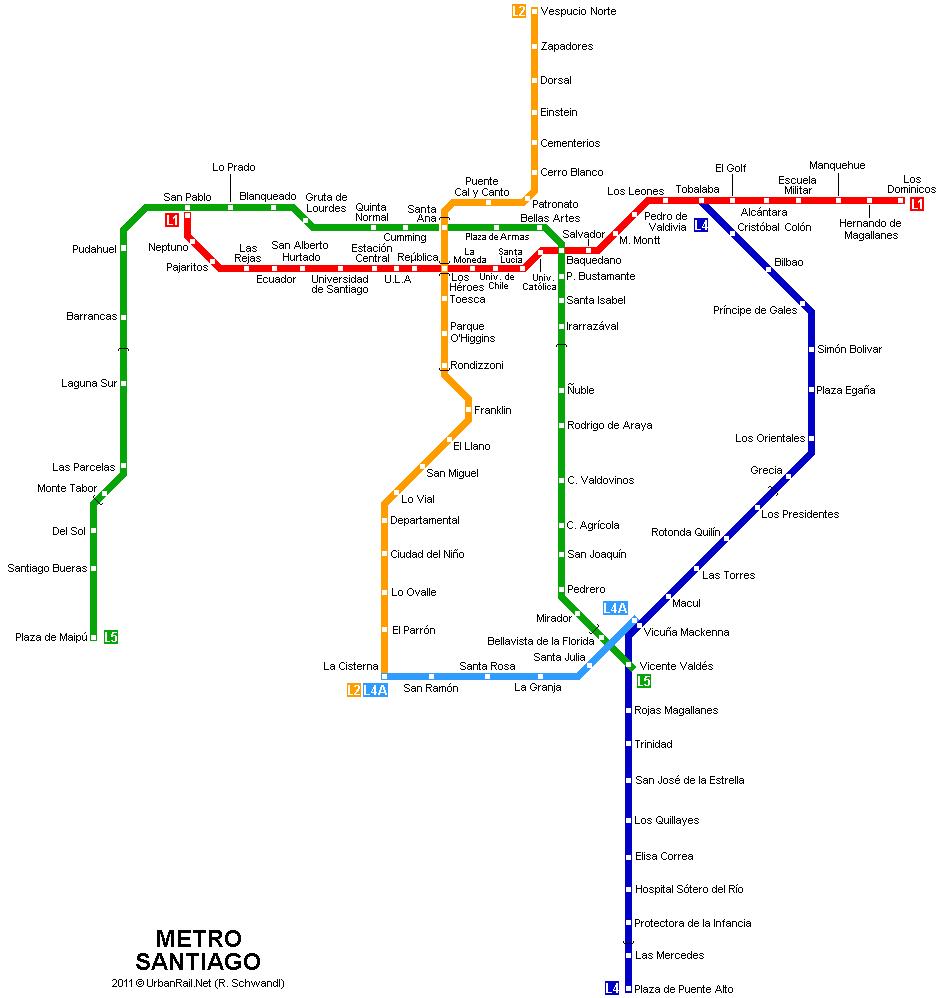 mapa de metro Santiago   mapa del metro | Mapa detallado de la metropolitana de  mapa de metro