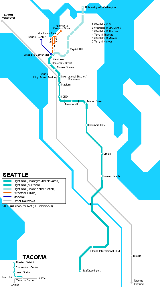 Map of metro in Seattle