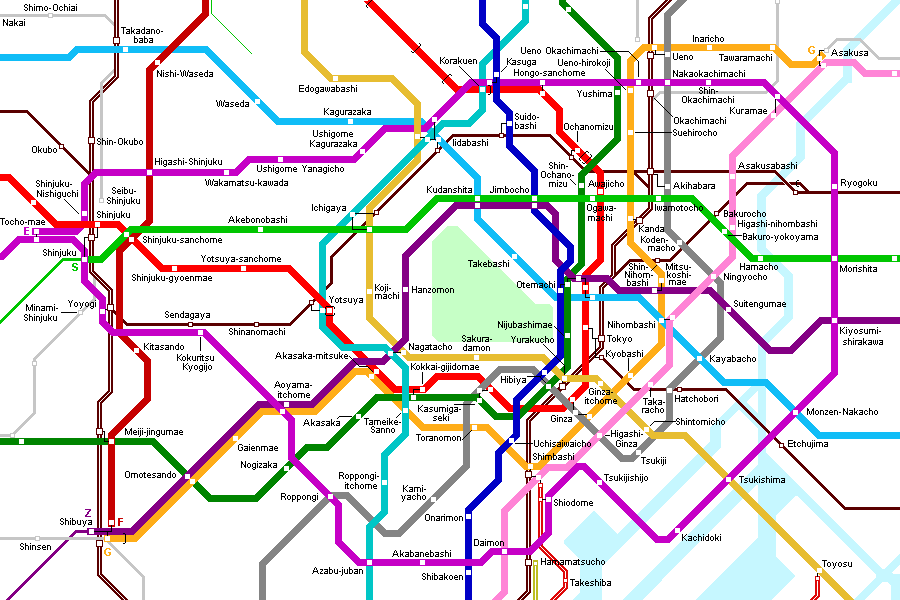 Tokyo Subway Map For Download Metro In Tokyo High Resolution Map
