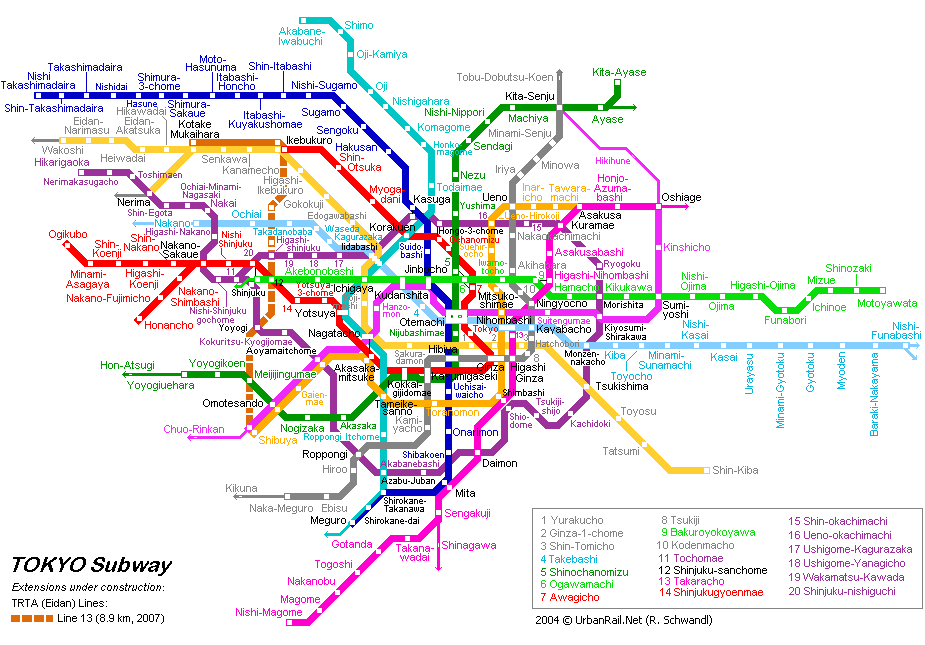 Tokyo subway map for download metro in tokyo high resolution the map sciox Image collections