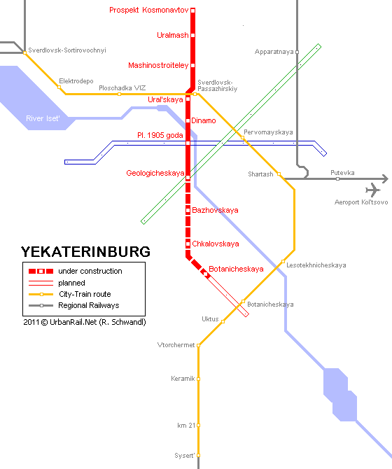 карта метрополитенна города