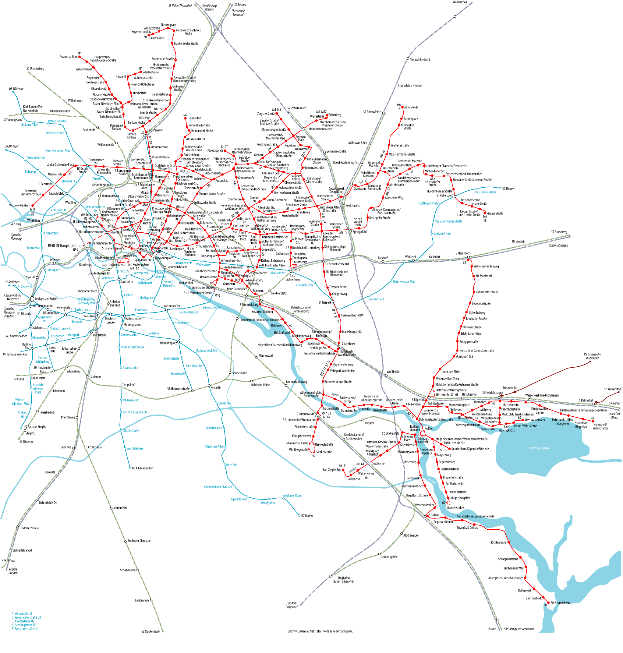 Tram map of Berlin