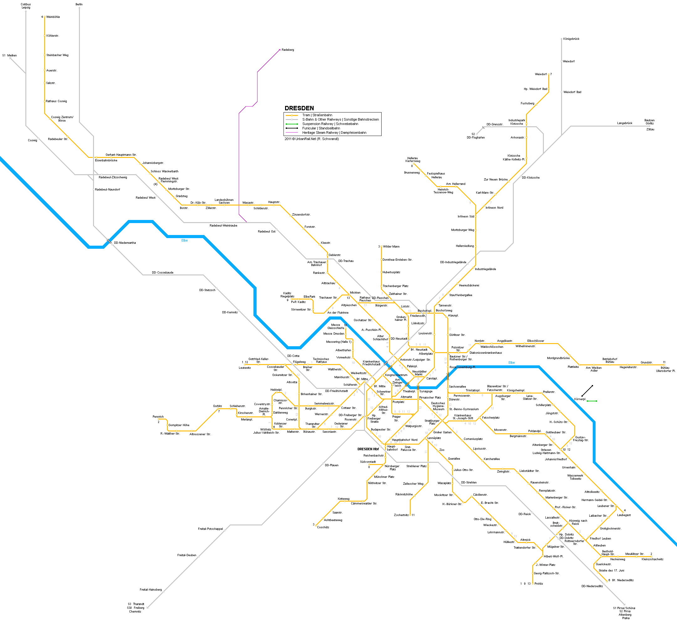 Tram map of Dresden