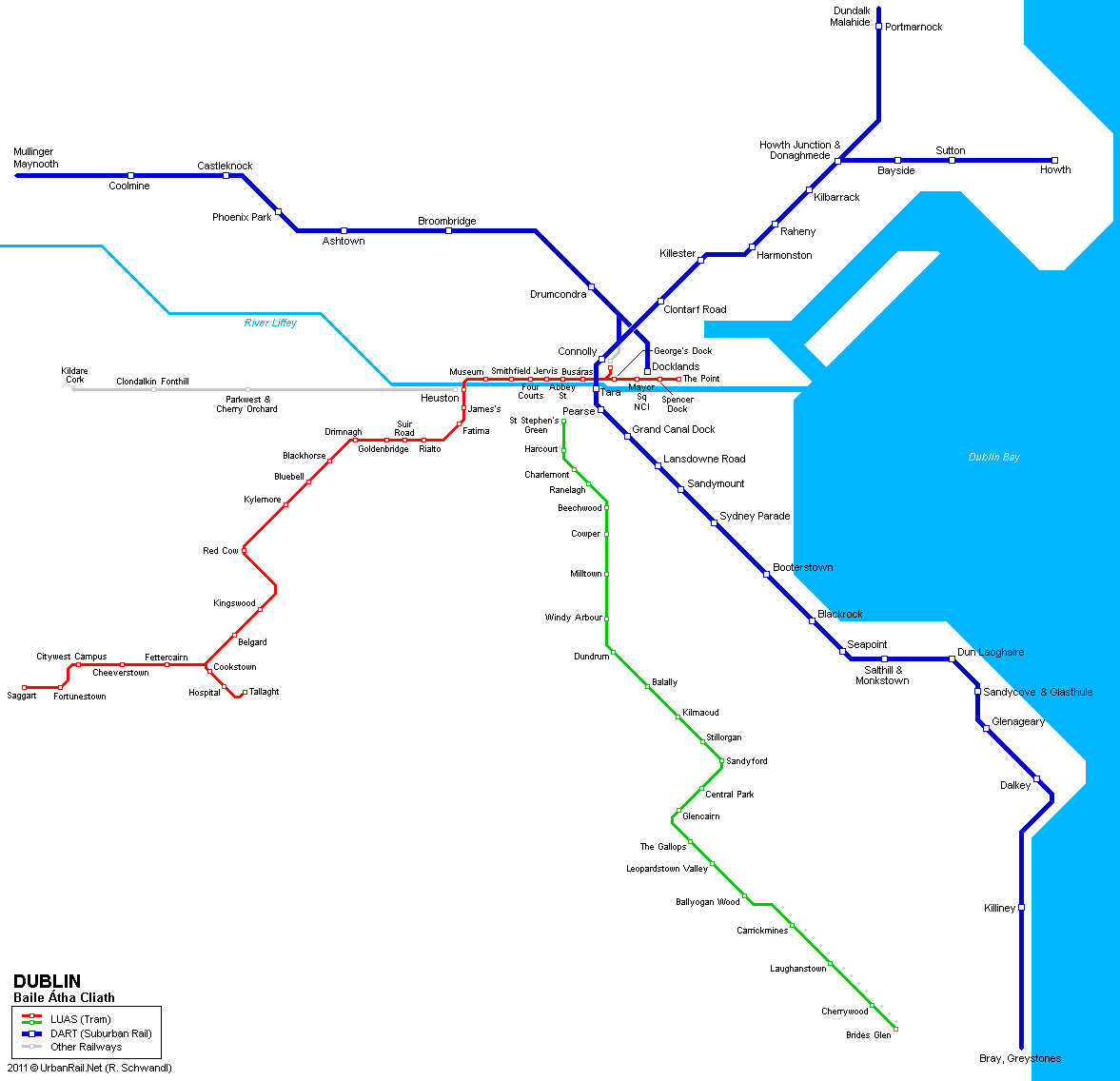 Tram map of Dublin