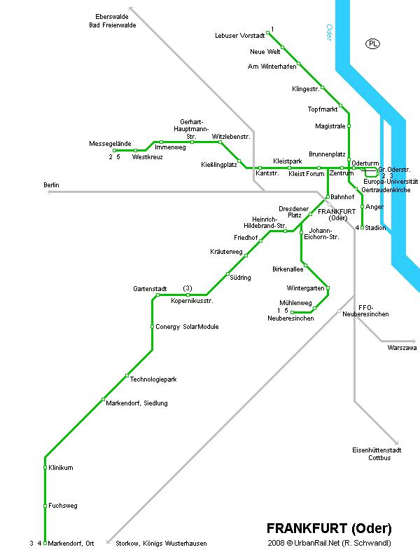 Карта метро Франкфурта-на-