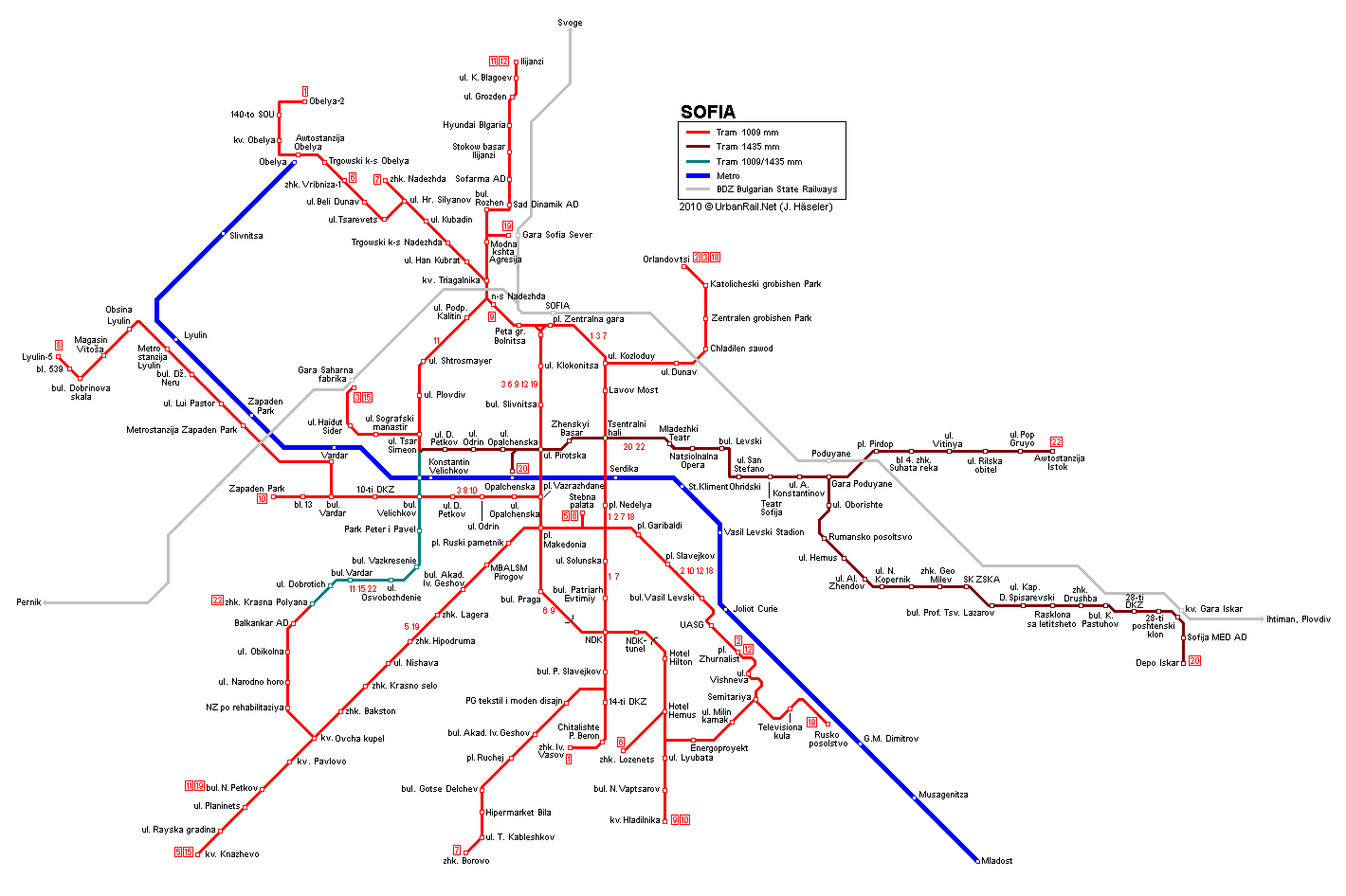 Budapest Subway Map English.Sofia Tram Map For Free Download Map Of Sofia Tramway Network