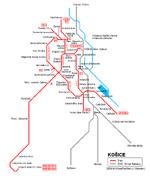 Carte des itinéraires de tram Kosice
