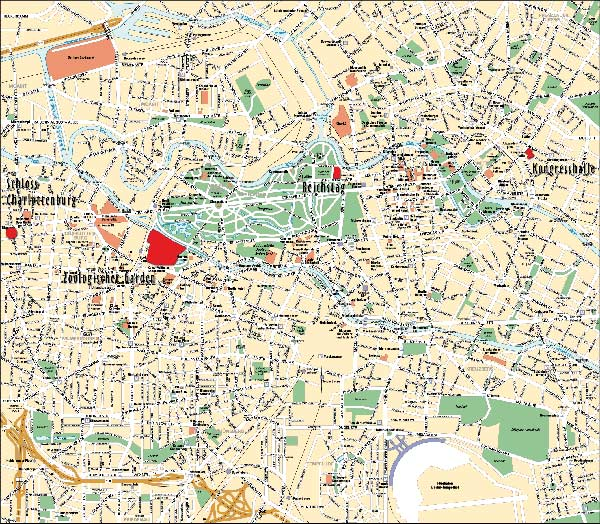 High-resolution large map of Berlin - download for print out