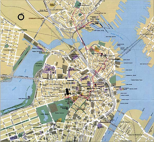 High-resolution large map of Boston - download for print out