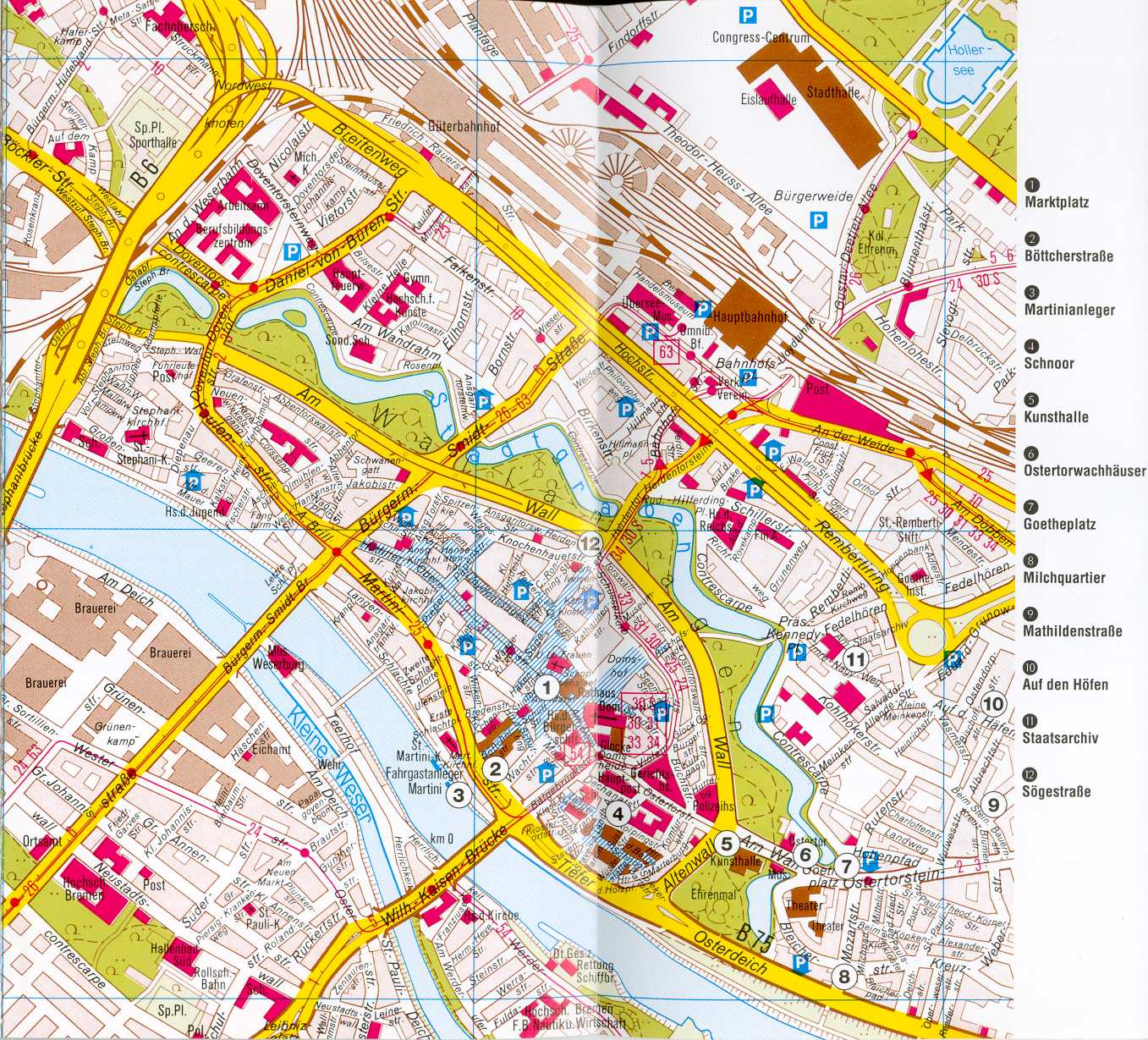 Bremen Map Detailed City and Metro Maps of Bremen for Download