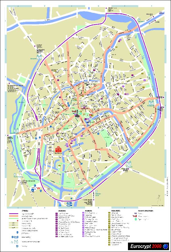 High-resolution large map of Brugge - download for print out