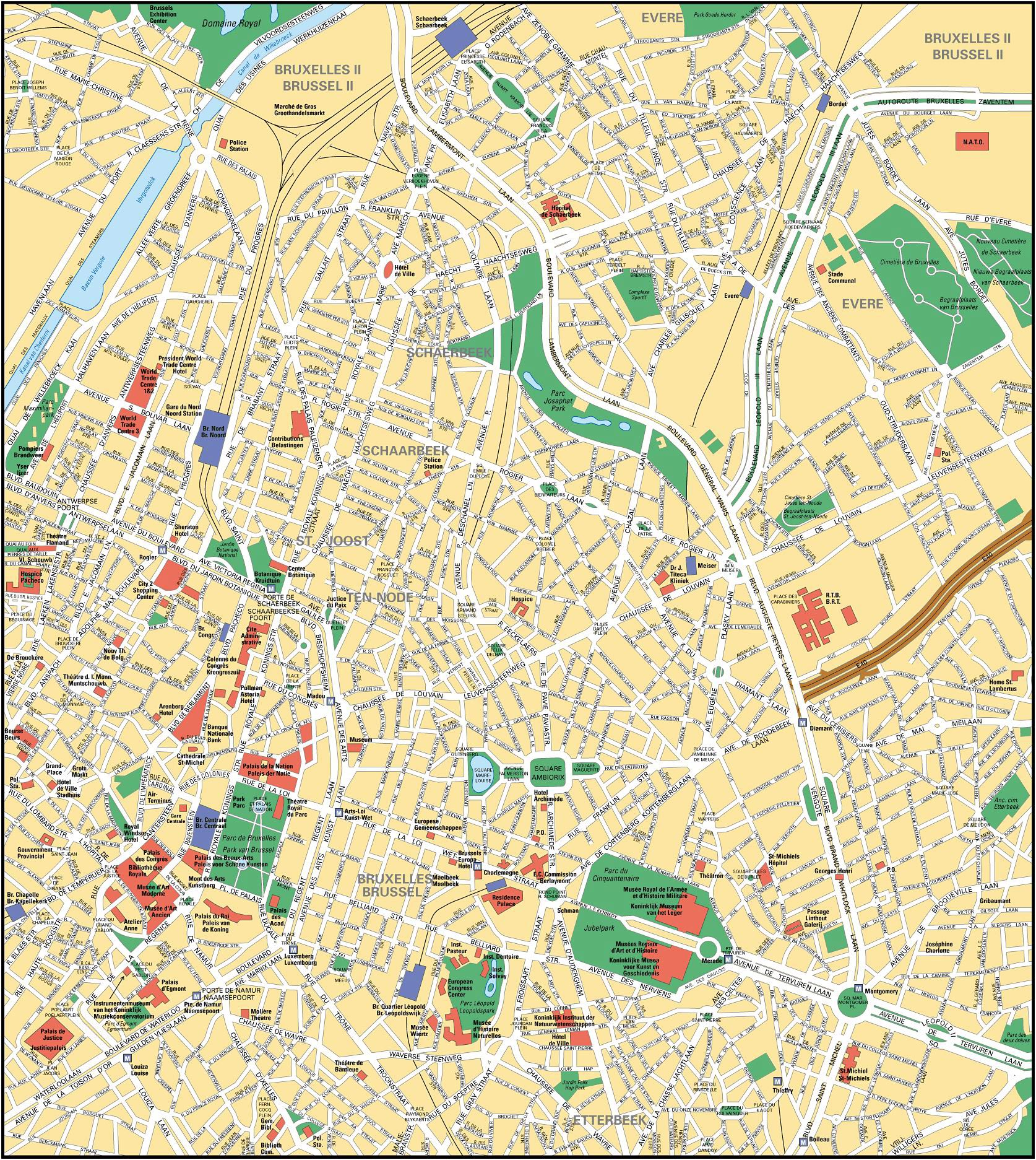 Brussels Map Detailed City and Metro Maps of Brussels for Download