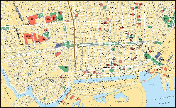High-resolution large map of Buenos Aires - download for print out