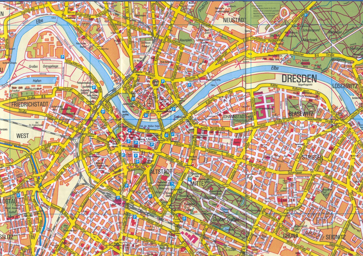 Dresden Map Detailed City And Metro Maps Of Dresden For Download