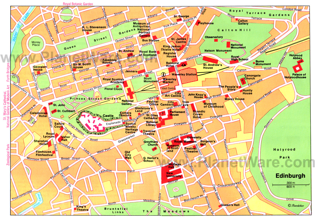 edinburgh city centre map pdf