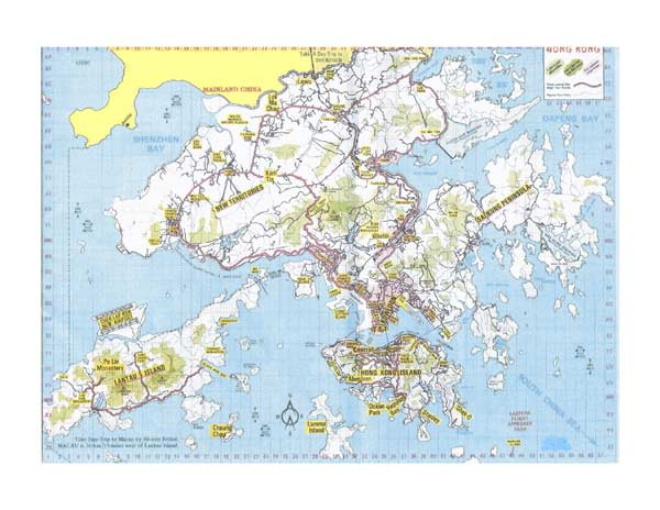 High-resolution large map of Hong Kong - download for print out