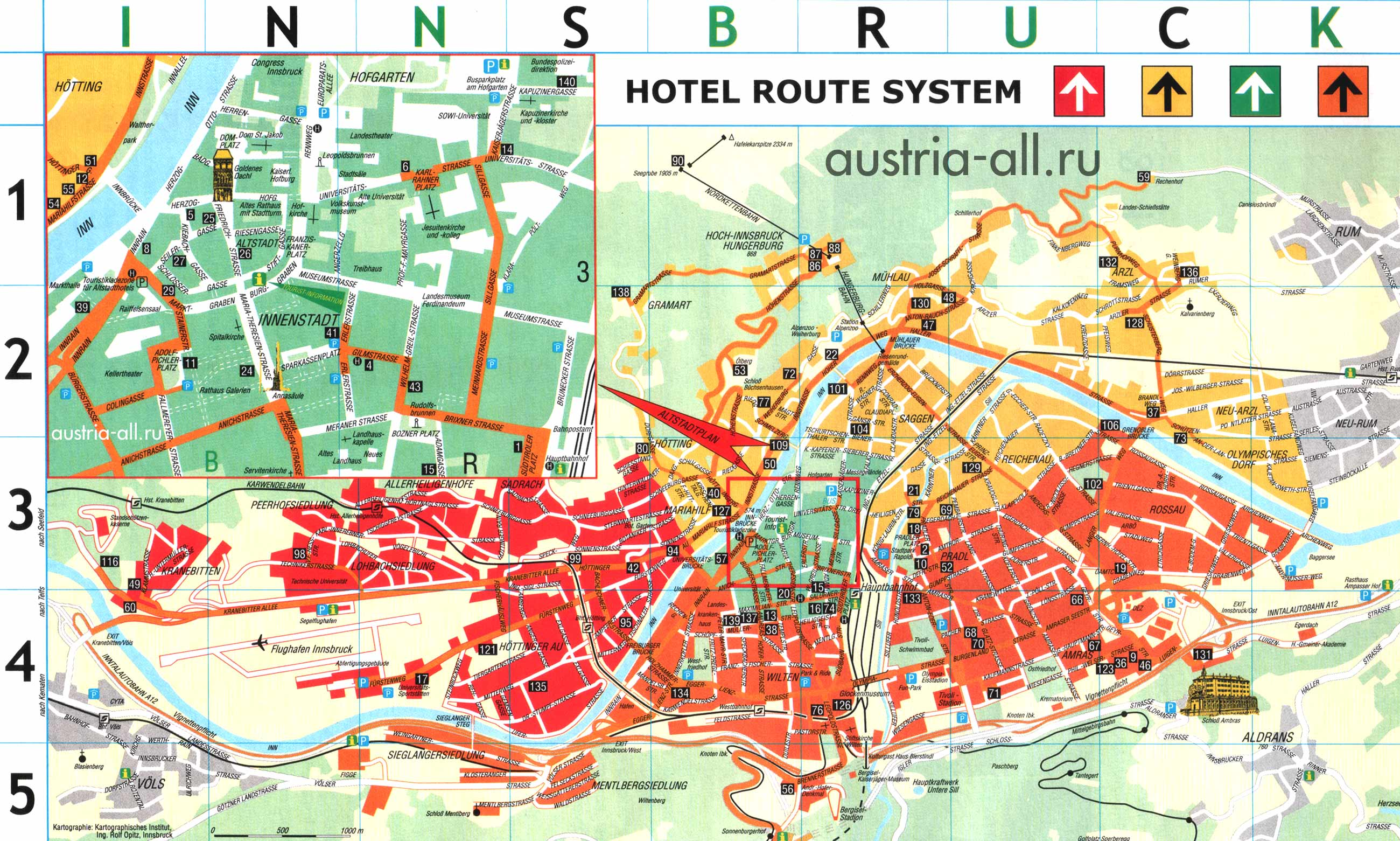 Innsbruck Map Detailed City and Metro Maps of Innsbruck for – Austria Tourist Attractions Map