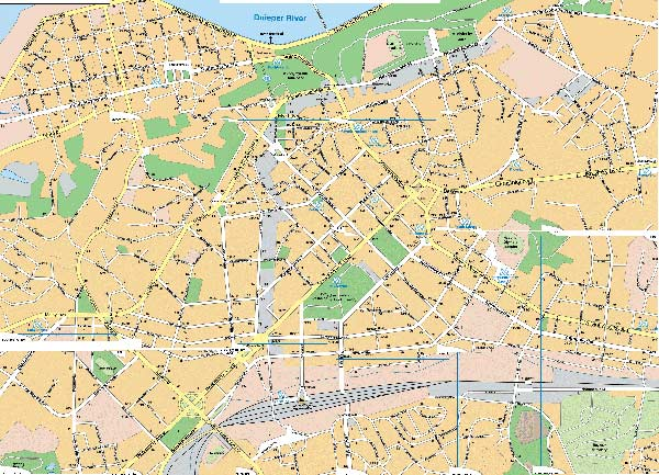 High-resolution large map of Kiev - download for print out