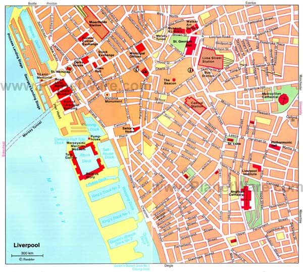 High-resolution large map of Liverpool - download for print out