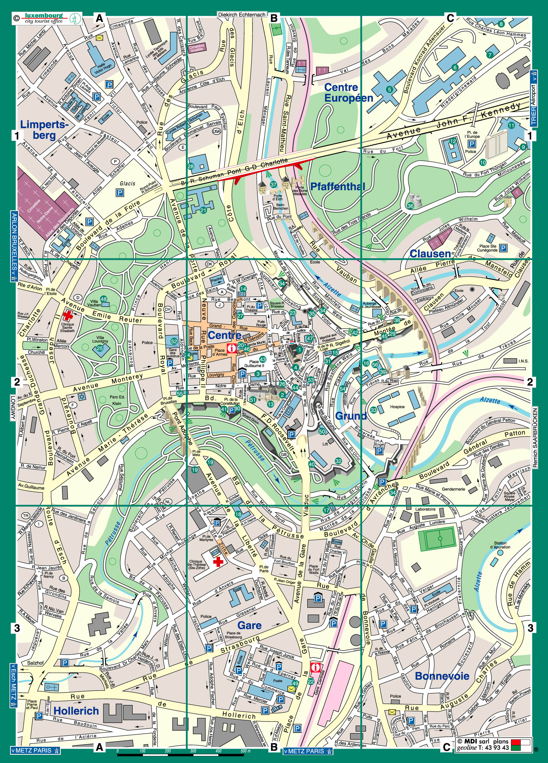 Luxembourg Map - Detailed City and Metro Maps of Luxembourg for ... Luxembourg City Map