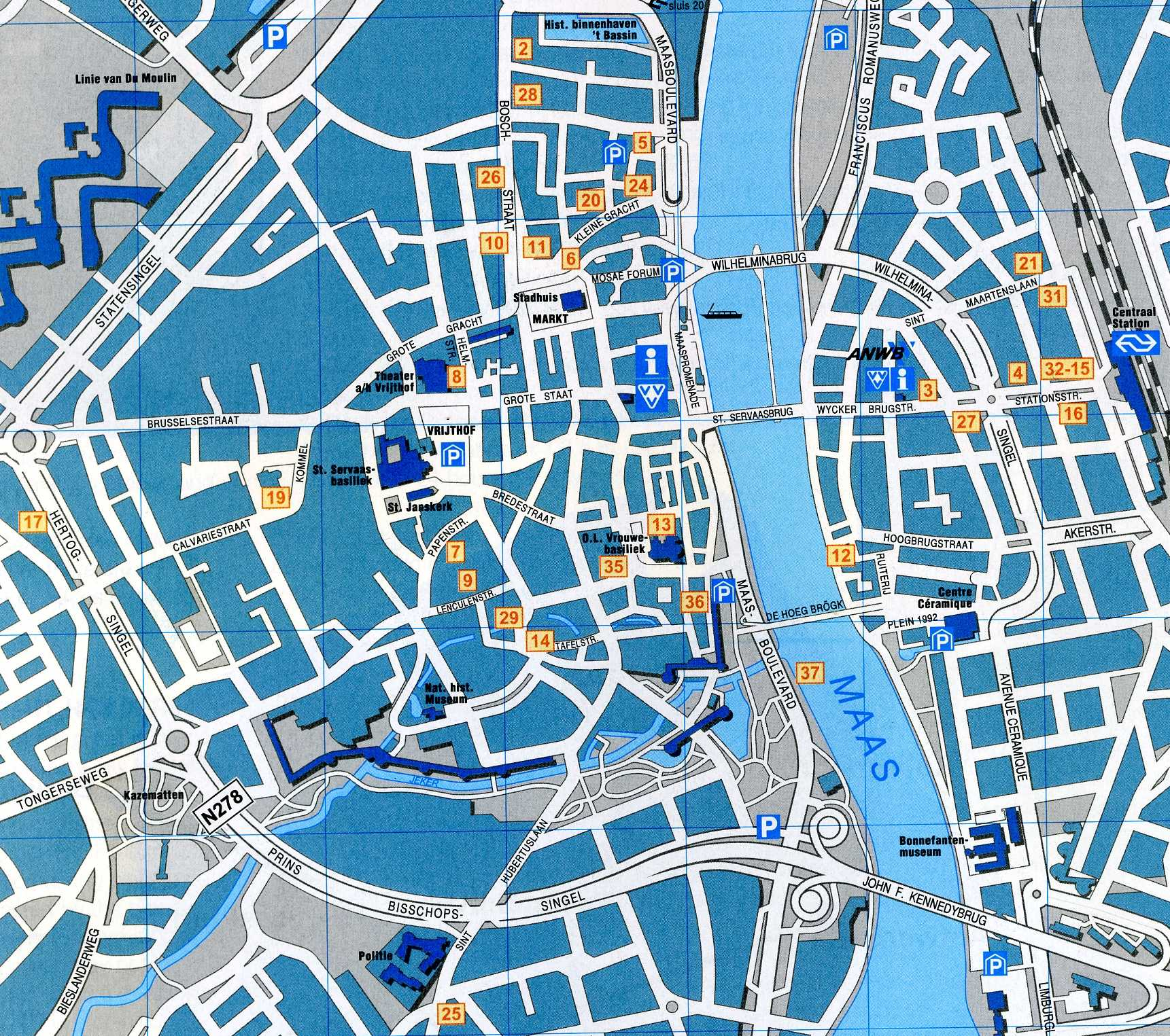 Maastricht Map Detailed City and Metro Maps of Maastricht for