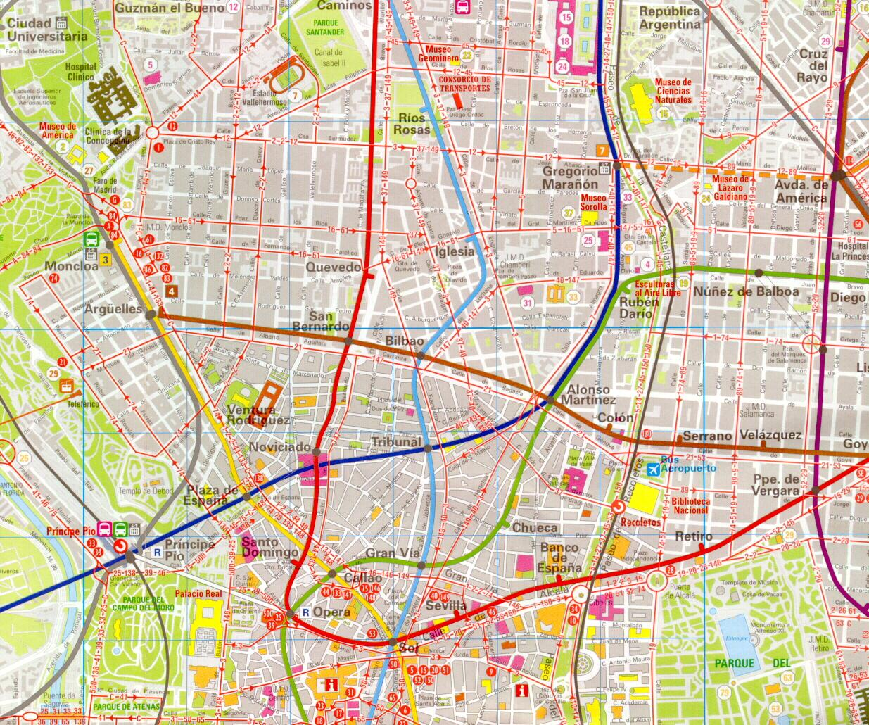 Madrid Map Detailed City and Metro Maps of Madrid for Download – Madrid Tourist Attractions Map