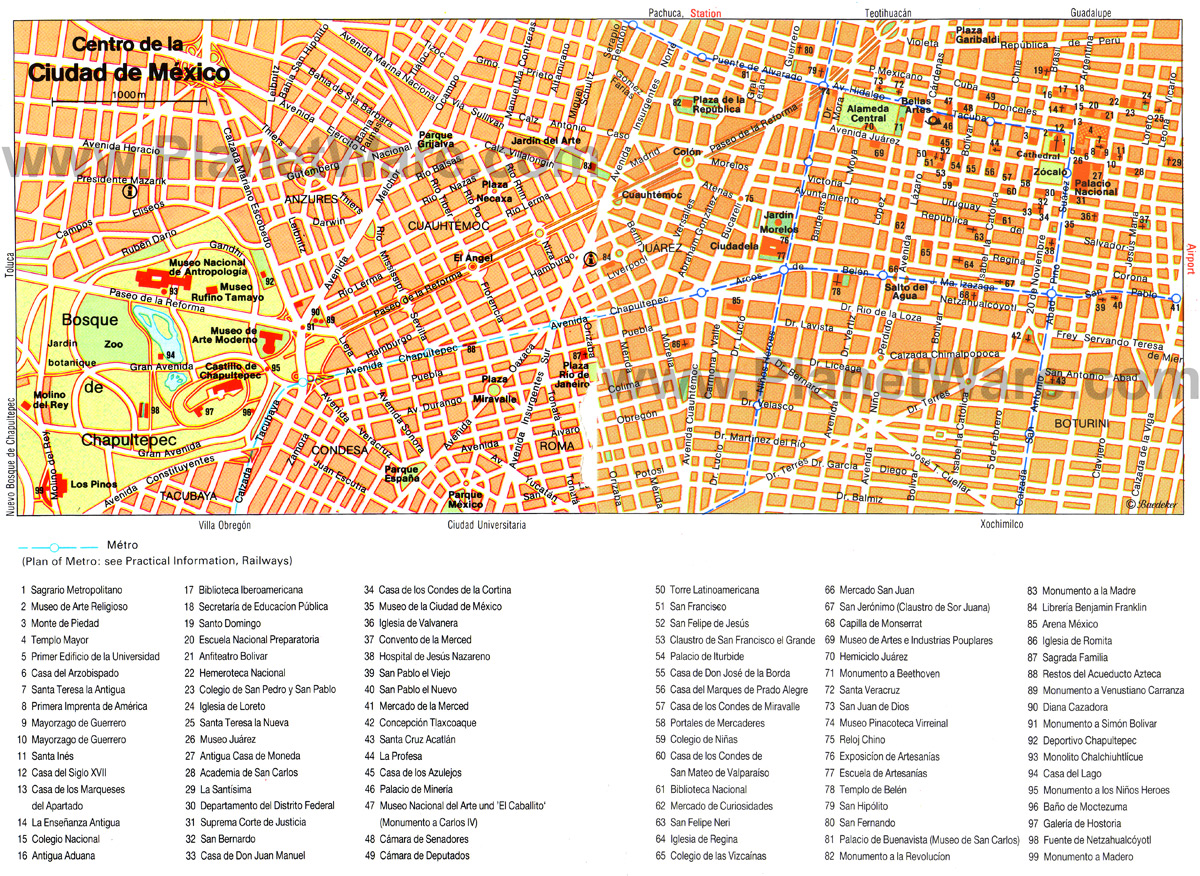 Mexico Map Detailed City and Metro Maps of Mexico for Download