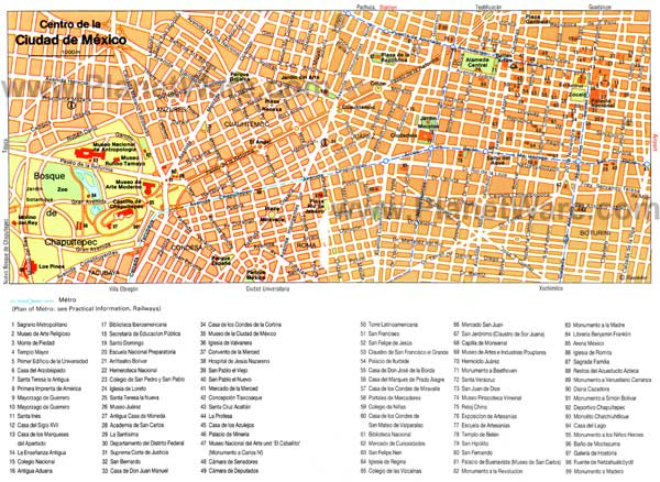 detailed maps of mexico city