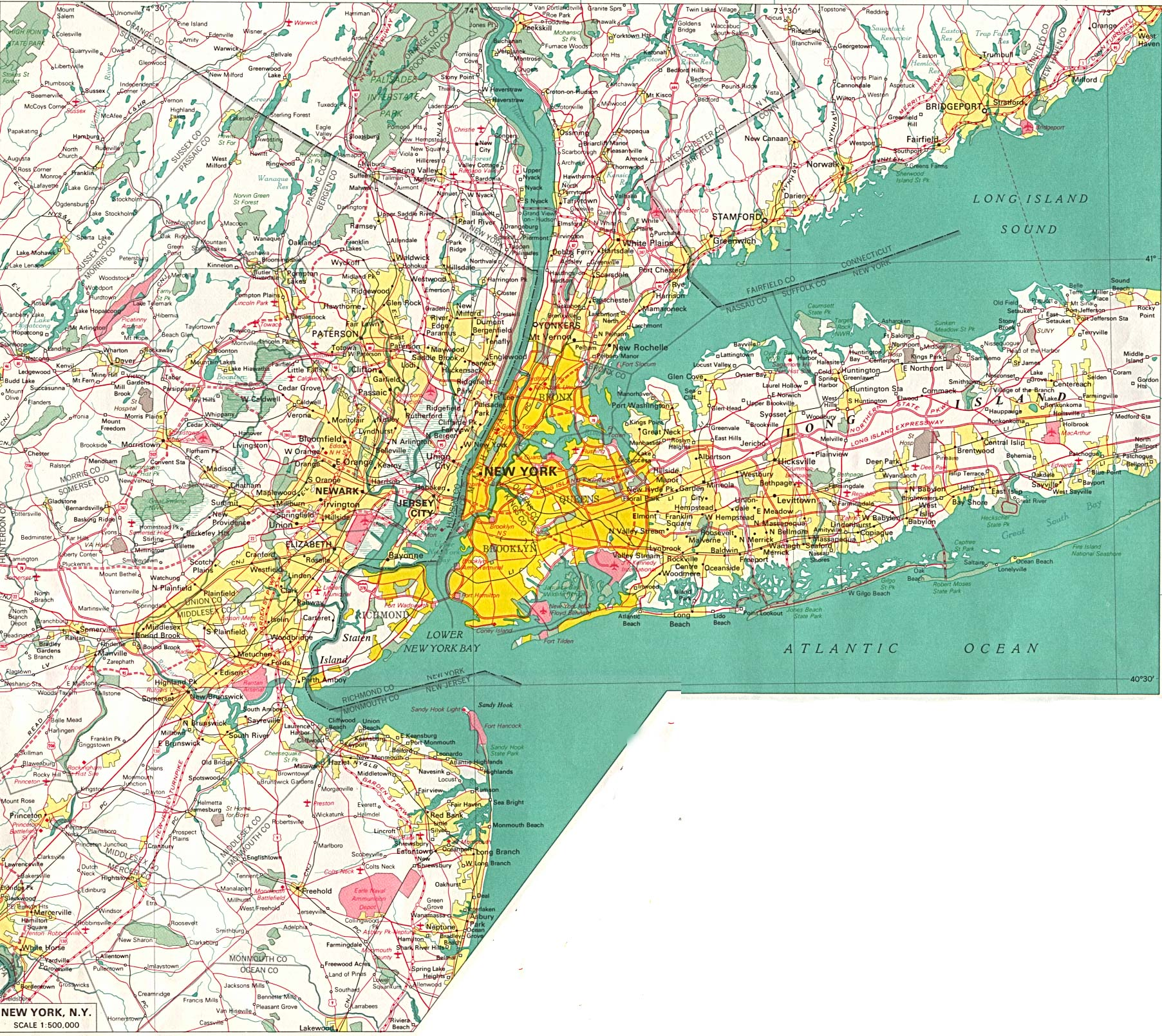 high resolution large map of new york download for print out