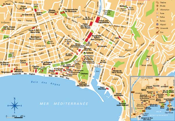 High-resolution large map of Nice - download for print out