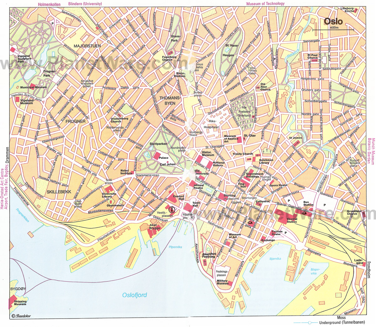 photograph about Printable Map of Norway referred to as Oslo Map - Thorough Town and Metro Maps of Oslo for Down load