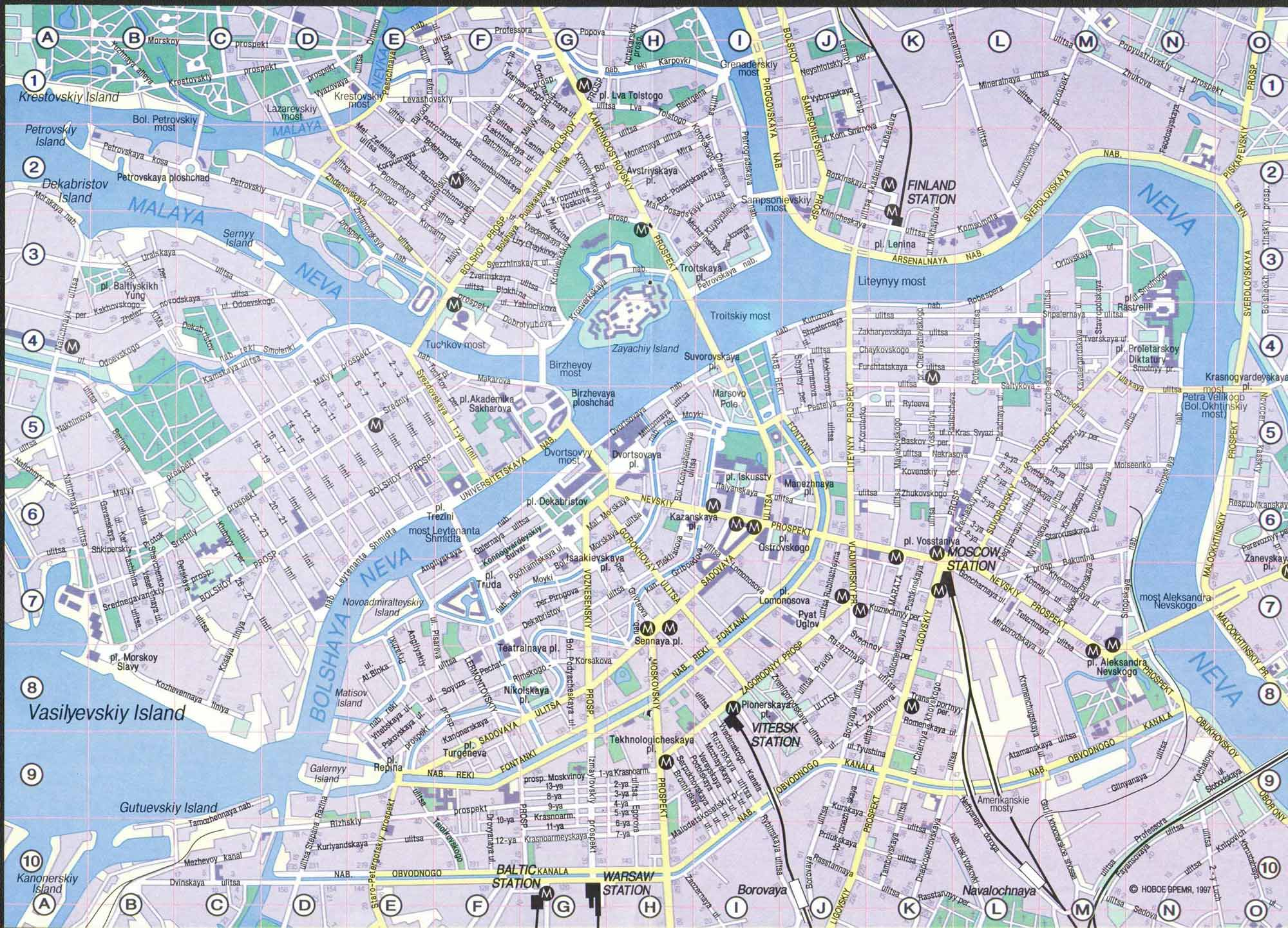 Saint Petersburg Map Detailed City And Metro Maps Of Saint