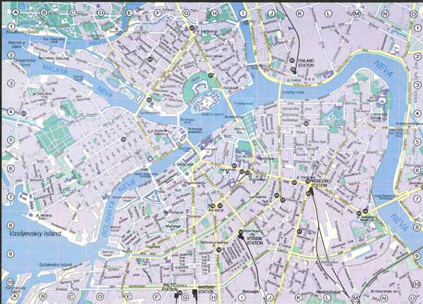 High-resolution large map of Saint Petersburg - download for print out