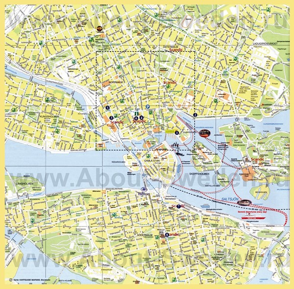 High-resolution large map of Stockholm - download for print out