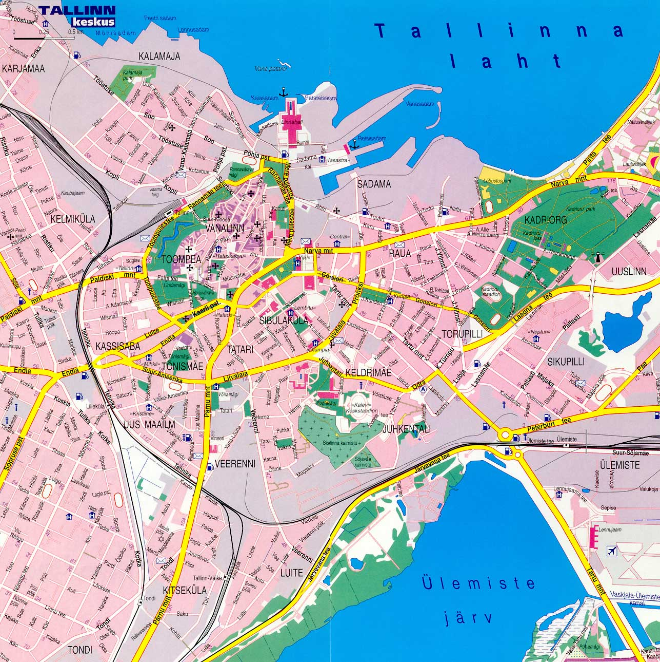 Tallinn Map Detailed City and Metro Maps of Tallinn for Download